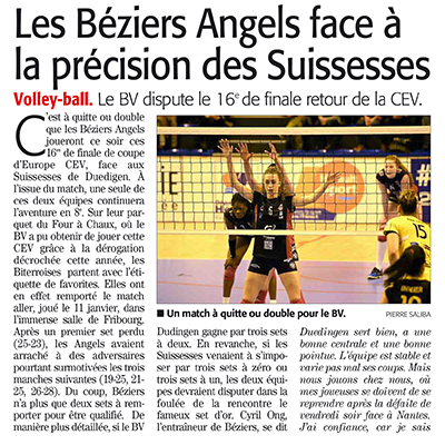 béziers angels volley ball
