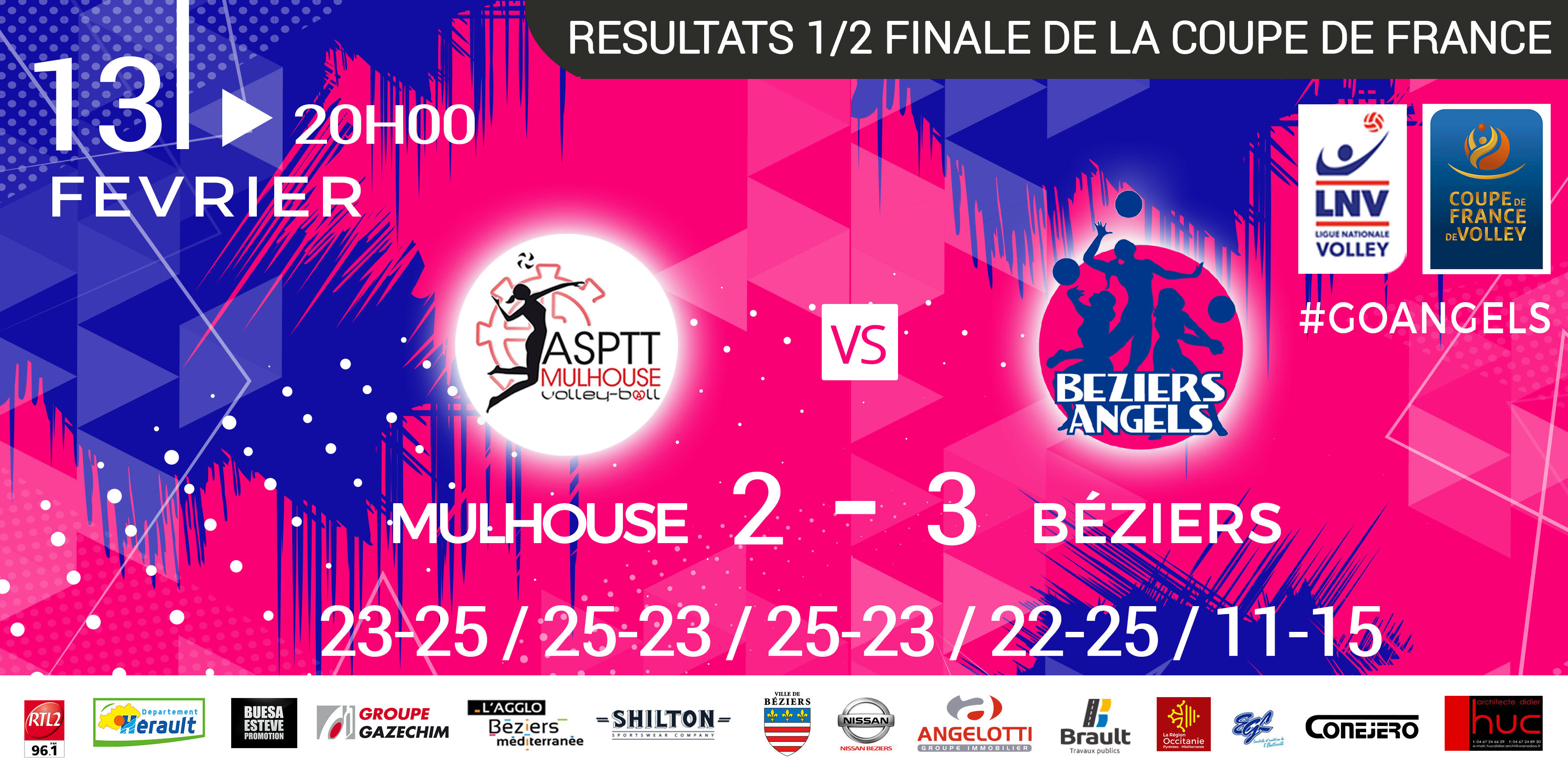 Beziers angels resultats 1 2 finale coupe de france mulhouse vs b ziers 2 3 beziers angels - Resultat de coupe de france ...